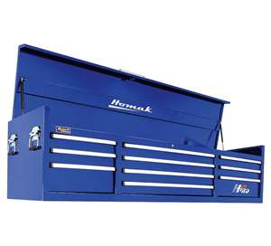 Homak H2PRO Series 72-Inch 10-Drawer Top Chest, Blue