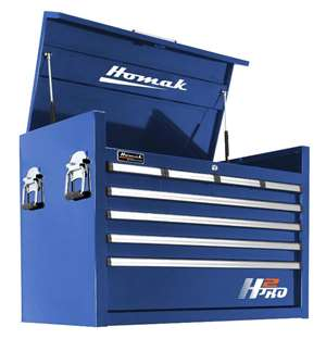 Homak H2PRO Series 36-Inch 8-Drawer Top Chest, Blue