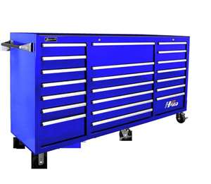 Homak H2PRO Series 72-Inch 21-Drawer Rolling Cabinet, Blue