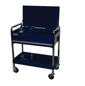 Homak 32-Inch Professional 1 Drawer Service Cart, Blue