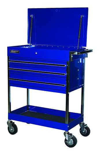 Homak 34-Inch Professional 3 Drawer Service Cart, Blue