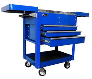 Homak 35-Inch Professional Series 4-Drawer Service Cart, Blue