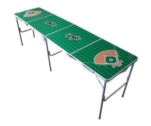 Chicago White Sox MLB Folding Tailgate Table 2X8 Ft Picnic Card Table