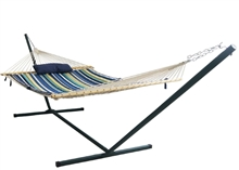 Island Retreat 12-ft Hammock Set - Blue Cover