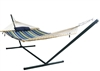 Island Retreat 15-ft Hammock Set - Blue Cover - 2 Person