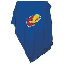 Kansas Jayhawk  Sweatshirt Blanket 84 X 54 Inches