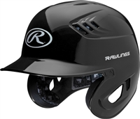 Rawlings Clear Coat High School-College Sized CoolFlo Batting Helmet  Black