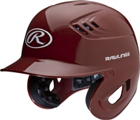 Rawlings Clear Coat High School-College Sized CoolFlo Batting Helmet Cardinal