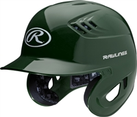 Rawlings Clear Coat High School-College Sized CoolFlo Batting Helmet Dark Green