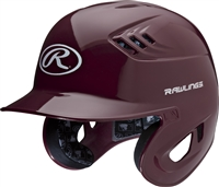 Rawlings Clear Coat High School-College Sized CoolFlo Batting Helmet Maroon