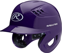 Rawlings Clear Coat High School-College Sized CoolFlo Batting Helmet Purple