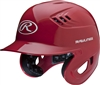 Rawlings Clear Coat High School-College Sized CoolFlo Batting Helmet Scarlet