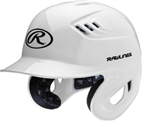 Rawlings Clear Coat High School-College Sized CoolFlo Batting Helmet White