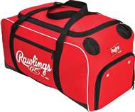 Rawlings Covert Baseball Bat Duffle Bag Scarlet
