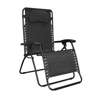 Caravan Oversized Infinity Zero Gravity Chair Black