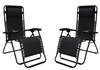 Caravan Infinity Zero Gravity Chair Black (2pk)