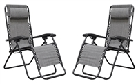 Caravan Infinity Zero Gravity Chair Grey (2pk)