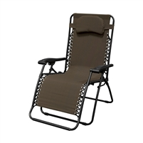 Caravan Oversized Infinity Zero Gravity Chair Dark Brown