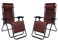 Caravan Infinity Zero Gravity Chair Burgundy (2pk)