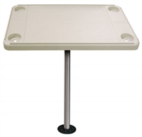 JIF Marine Retangular Boat Table Kit - Includes Base