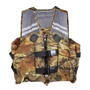 Flowt Angler Fishing Mesh Life Vests - Camouflage - Camo - L/XL