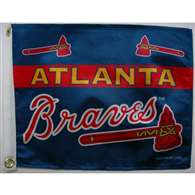 "Boat/Golf Cart 14"" X 15"" Atlanta BRAVES GOLF CART FLG"