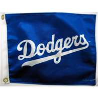 "Boat/Golf Cart 14"" X 15""  Los Angeles DODGERS GLF CRT FLG"