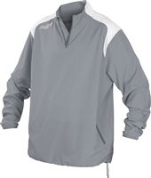 Rawlings Mens Adult Quarter Zip Long Sleeve Jacket Blue Gray