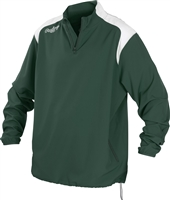 Rawlings Mens Adult Quarter Zip Long Sleeve Jacket Dark Green