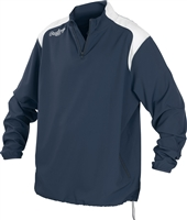 Rawlings Mens Adult Quarter Zip Long Sleeve Jacket Navy