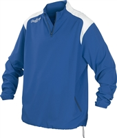 Rawlings Mens Adult Quarter Zip Long Sleeve Jacket Royal Blue