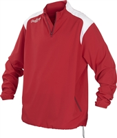 Rawlings Mens Adult Quarter Zip Long Sleeve Jacket Scarlet
