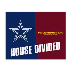 NFL House Divided - Cowboys / RedskinsFloor Rug Mats