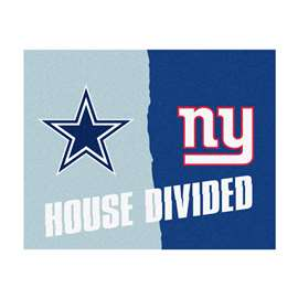 NFL House Divided - Cowboys / GiantsFloor Rug Mats
