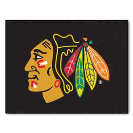 NHL - Chicago Blackhawks Rug Carpet Mats 33.75 X 42.5 Inches