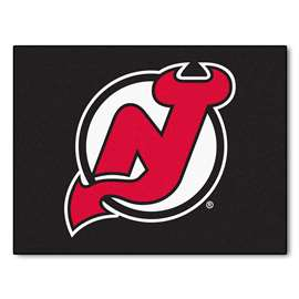 NHL - New Jersey Devils Rug Carpet Mats 33.75 X 42.5 Inches