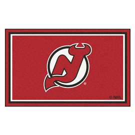 NHL - New Jersey Devils Rug Carpet Mats 44 X 71 Inches
