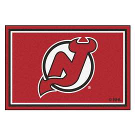 NHL - New Jersey Devils Rug Carpet Mats 59.5 X 88 Inches