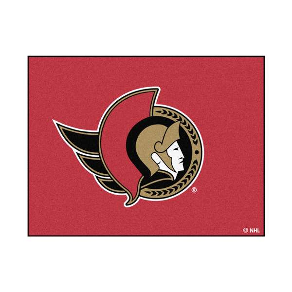 NHL - Ottawa Senators Rug Carpet Mats 33.75 X 42.5 Inches