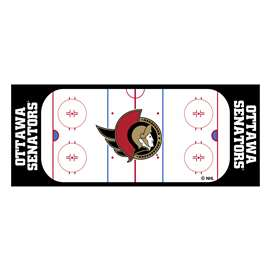 "NHL - Ottawa Senators Mat, Rug , Carpet 30""x72"""