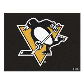 NHL - Pittsburgh Penguins Rug Carpet Mats 33.75 X 42.5 Inches
