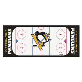 "NHL - Pittsburgh Penguins Mat, Rug , Carpet 30""x72"""