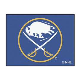 NHL - Buffalo Sabres Rug Carpet Mats 33.75 X 42.5 Inches