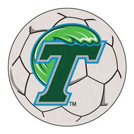 Tulane University  Soccer Ball Mat, Rug , Carpet