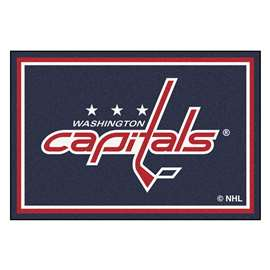 NHL - Washington Capitals Rug Carpet Mats 59.5 X 88 Inches