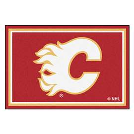 NHL - Calgary Flames Rug Carpet Mats 59.5 X 88 Inches