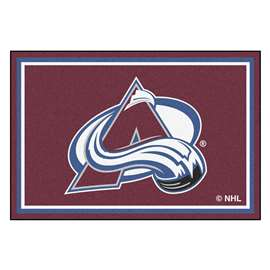 NHL - Colorado Avalanche Rug Carpet Mats 59.5 X 88 Inches