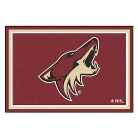 NHL - Arizona Coyotes Rug Carpet Mats 59.5 X 88 Inches
