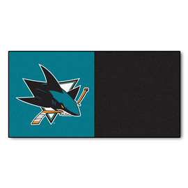 "NHL - San Jose Sharks Rug, Carpet, Mats 18""x18"" tiles"