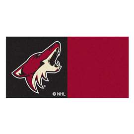 "NHL - Arizona Coyotes Rug, Carpet, Mats 18""x18"" tiles"
